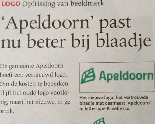 Nieuw logo Apeldoorn
